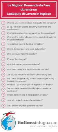 Le migliori domande da fare durante un colloquio di lavoro in inglese