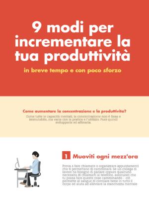 9 modi per incrementare la tua produttività