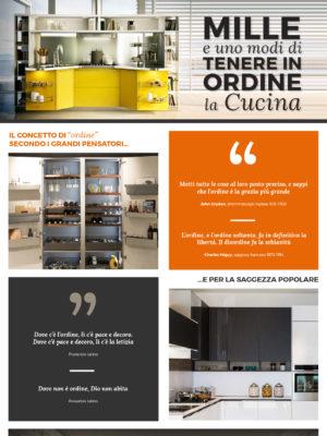 """Infografica Snaidero """"Mille e uno modi di tenere in ordine la cucina"""""""