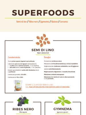 "Infografica ""SUPERFOODS"" a cura di Dolce Vita"