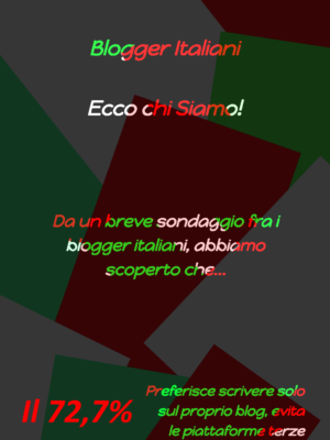 Statistiche sullo Stato del Blogging in Italia