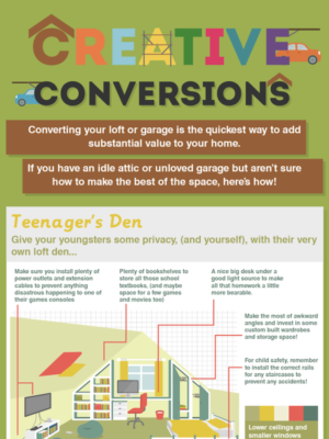 Creative loft conversion and garage conversions for your property