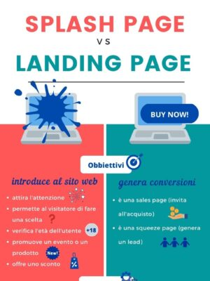 Differenza fra Splash page e Landing page